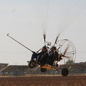 Paratrike flight in Salamanca