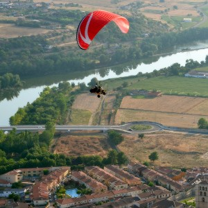 Paratrike flight in Zamora