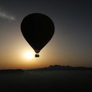 Hot air balloon sunset flight in Anoia (Barcelona)