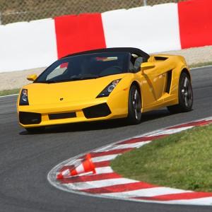 Conducir un Lamborghini Gallardo en circuito en Los Arcos 3,9km (Navarra) - 1 vuelta