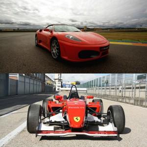 Ferrari + Fórmula 2.0 en circuito en Cheste 3,1km (Valencia) - 2 vueltas (1 por coche)