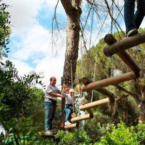 Aventura en los árboles en Bollullos de la Mitación (Sevilla)