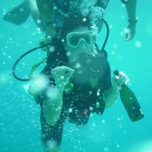 Bautismo de buceo con vino en Tossa de Mar (Girona)