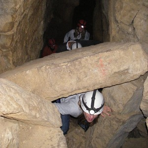 Bautizo de cuevas para grupos en La Llacuna (Barcelona)