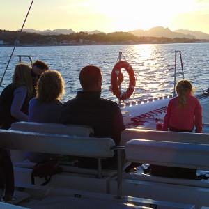 Puesta de sol en barco en Jávea (Alicante)