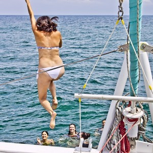 Excursión en barco con baño en Málaga