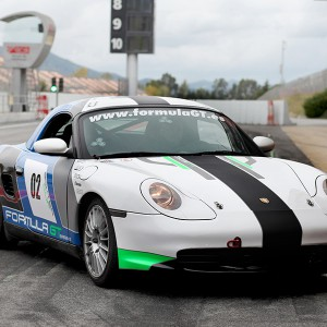 Conducir un Porsche Boxster Cup en circuito en Motorland Escuela 1,7km (Teruel)