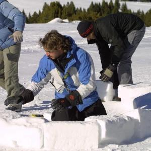Construcción de iglús temporada 2020/21 en Grandvalira (Andorra)