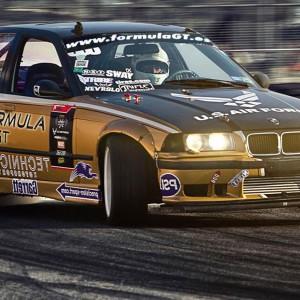 Drift BMW en circuito deslizante Los Arcos (Navarra)