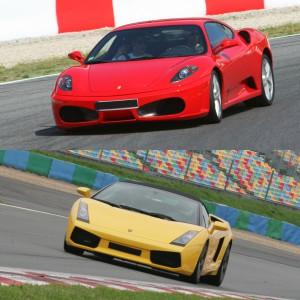 Ferrari + Lamborghini en circuito en Montmeló GP 4,7km (Barcelona)