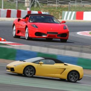 Ferrari circuito + Lamborghini carretera en Calafat 2,6km (Tarragona)