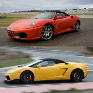 Ferrari circuito + Lamborghini carretera en Chiva 1,6km (Valencia)