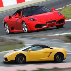 Ferrari circuito + Lamborghini carretera en El Jarama 3,8km (Madrid)