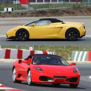 Ferrari circuito + Lamborghini carretera en FK1 2km (Valladolid)