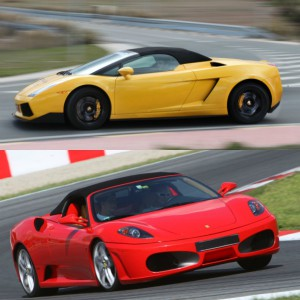 Ferrari circuito + Lamborghini carretera en Motorland Escuela 1,7km (Teruel)