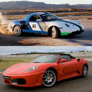 Ferrari circuito + Porsche drift en Los Arcos 3,9km (Navarra)
