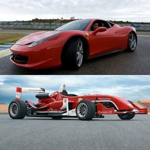 Ferrari + Fórmula 2.0 en circuito en Monteblanco 2,7km (Huelva)