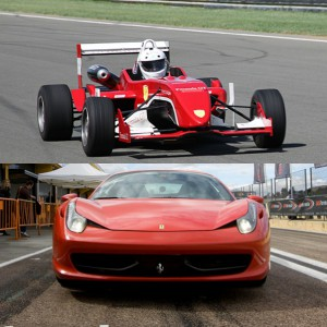Ferrari + Fórmula 2.0 en circuito en Montmeló Escuela 1,7km (Barcelona)