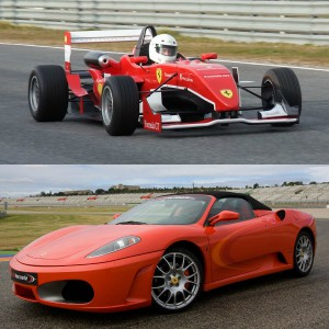 Ferrari + Fórmula 2.0 en circuito en Motorland Escuela 1,7km (Teruel)
