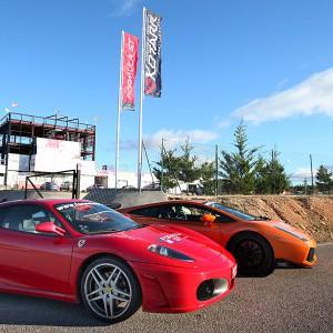 Ferrari + Lamborghini en circuito en Calafat 2,6km (Tarragona)