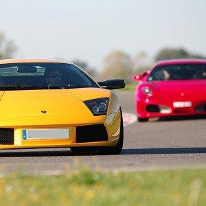Ferrari + Lamborghini en circuito en Cheste 3,1km (Valencia)