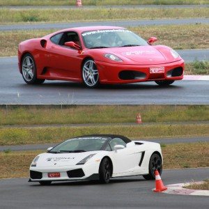 Ferrari + Lamborghini en circuito en Chiva 1,6km (Valencia)