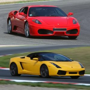 Ferrari + Lamborghini en circuito en El Jarama 3,8km (Madrid)