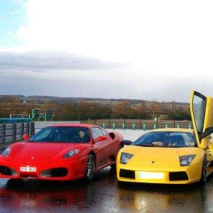 Ferrari + Lamborghini en circuito en FK1 2km (Valladolid)