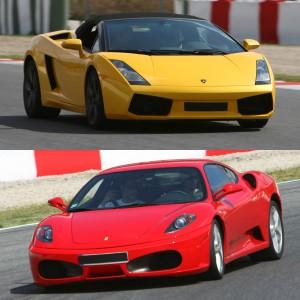 Ferrari + Lamborghini en circuito en Montmeló Escuela 1,7km (Barcelona)