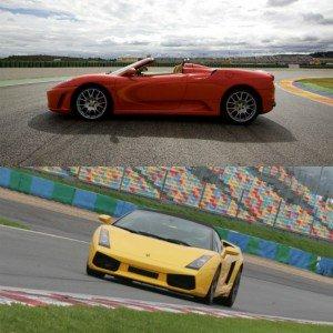 Ferrari + Lamborghini en circuito en Montmeló Nacional 3km (Barcelona)