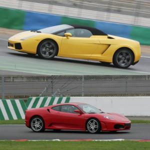 Ferrari + Lamborghini en circuito en Motorland Escuela 1,7km (Teruel)