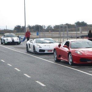 Ferrari + Lamborghini + Porsche en circuito en Chiva 1,6km (Valencia)