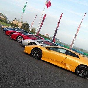 Ferrari + Lamborghini + Porsche en circuito en FK1 2km (Valladolid)
