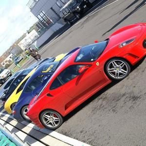 Ferrari + Lamborghini + Porsche en circuito en Motorland Escuela 1,7km (Teruel)