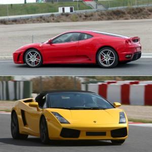 Lamborghini circuito + Ferrari carretera en Brunete 1,6km (Madrid)