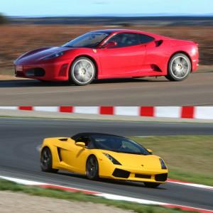 Lamborghini circuito + Ferrari carretera en Campillos 1,6km (Málaga)