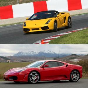 Lamborghini circuito + Ferrari carretera en FK1 2km (Valladolid)