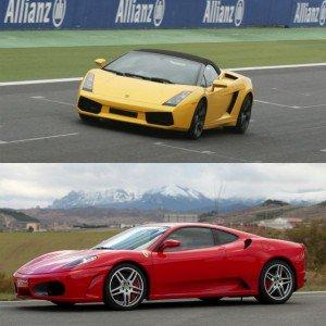 Lamborghini circuito + Ferrari carretera en Los Arcos 3,9km (Navarra)