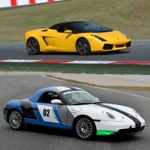 Lamborghini circuito + Porsche drift en Montmeló Nacional 3km (Barcelona)