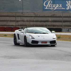 Lamborghini en carretera en Sevilla
