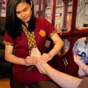 Masaje de piés y piernas en Barcelona