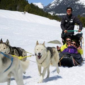 Paseo en trineo temporada 2019/20 en Grandvalira (Andorra)