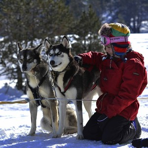 Paseo en trineo pack familia 2km 2020/21 en Grandvalira (Andorra)
