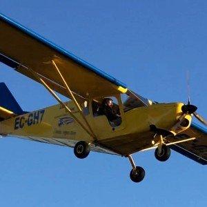 Pilotar una avioneta ultraligera en Almendralejo (Badajoz)