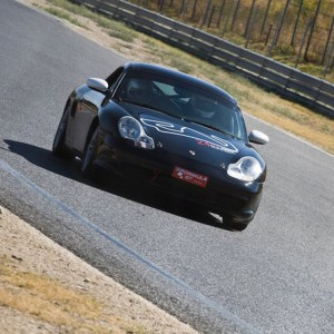 Porsche en carretera en Montmeló (Barcelona)