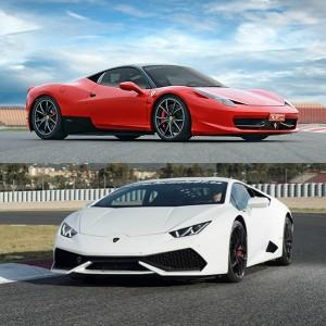 VIP Ferrari + Lamborghini en Monteblanco 3,9km (Huelva)